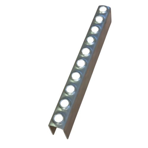2mm Thick - 25mm Deep, 39mm High Mild Steel Galvanised Ladder Rung x 0.800mm long