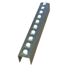 2mm Thick - 35mm Deep, 34mm High Mild Steel Galvanised Ladder Rung x 2.000mm long
