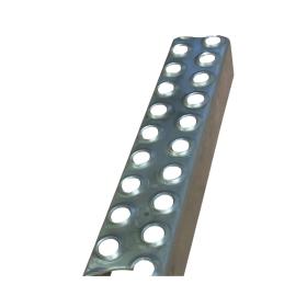 2mm Thick - 50mm Deep, 39mm High Mild Steel Galvanised Ladder Rung x 2.000mm long