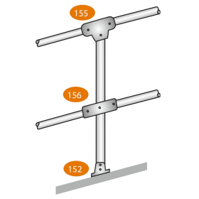 Mid Post - Slope - 0/11 Degrees - C Clamps