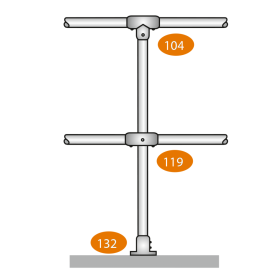 Mid Post Level - C Clamps