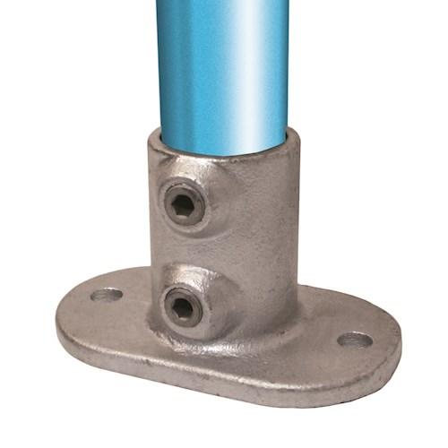 132-C / Railing Base Flange Galvanised